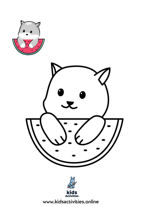 Cute summer coloring pages