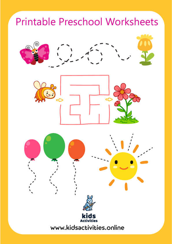 Free Preschool Activity Book For 3 4 Year Old ..Download PDF