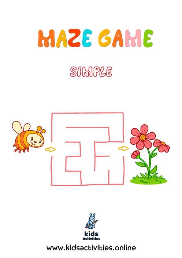 Free printable simple maze game Pdf