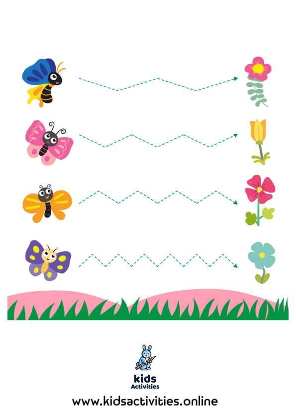Tracing activity for kindergarten pdf
