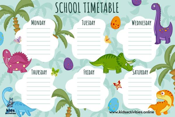 Printable weekly calendar for kids .. free printable