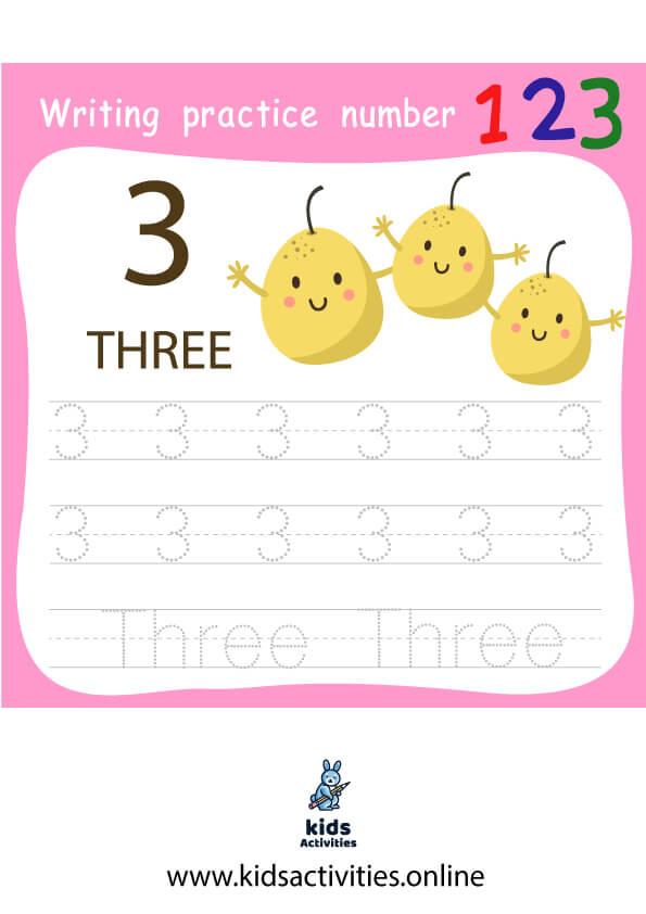 Free Worksheet practice writing numbers 1-10