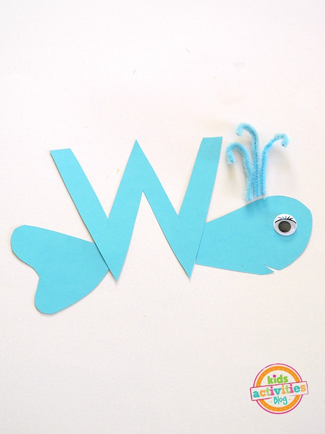 W Is For Whale Letter W Craft