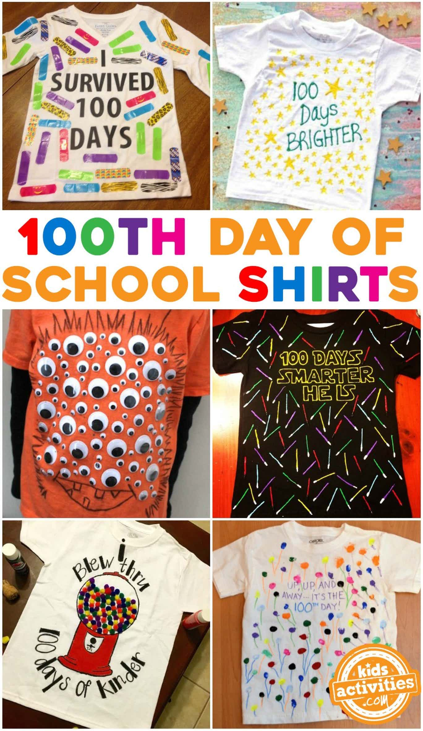 hight resolution of Super Easy 100th Day of School Shirt Ideas 2021 (yes 2021!)  Kids  Activities Blog