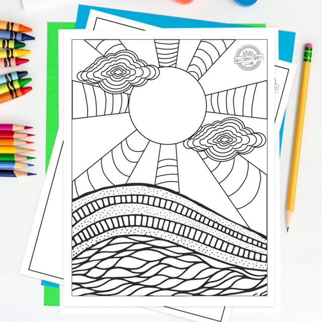 Hypnotizing Trippy Coloring Pages For Adults