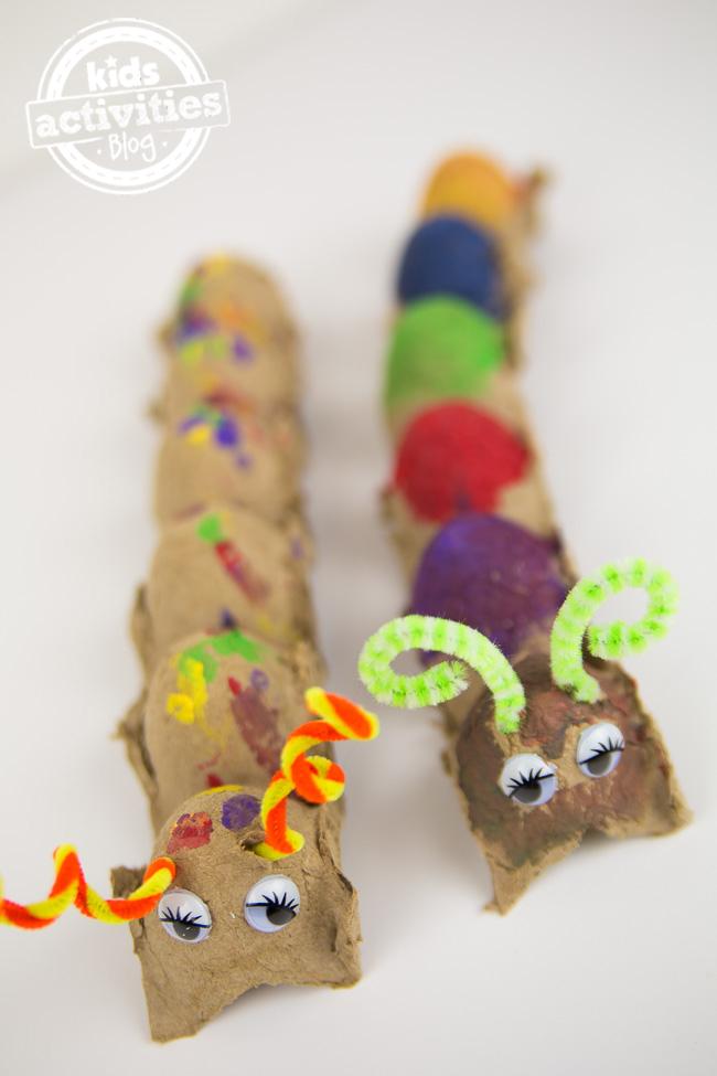 Easy Egg Carton Caterpillar Craft