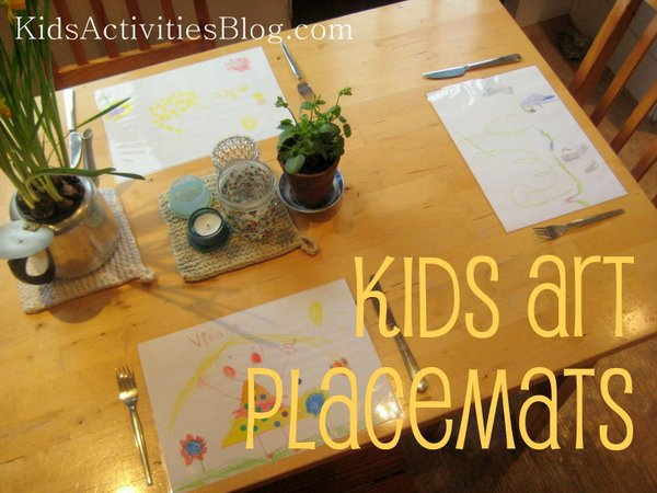 kids art diy placemats