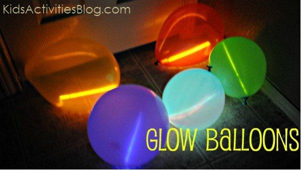 glow stick balloons