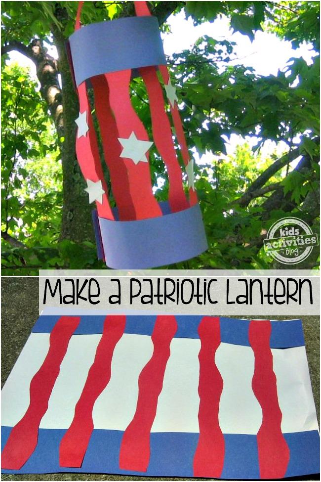 make a patriotic lantern