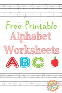 Alphabet Worksheets Free Kids Printable