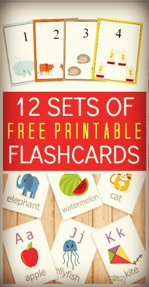 12 Sets Of Free Printable Flashcards