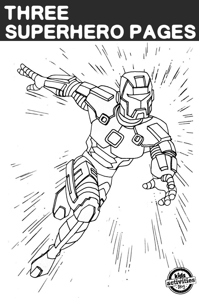3 Super Hero Coloring Pages
