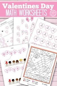 Valentines Math Worksheet - valentine s math kindergarten ...