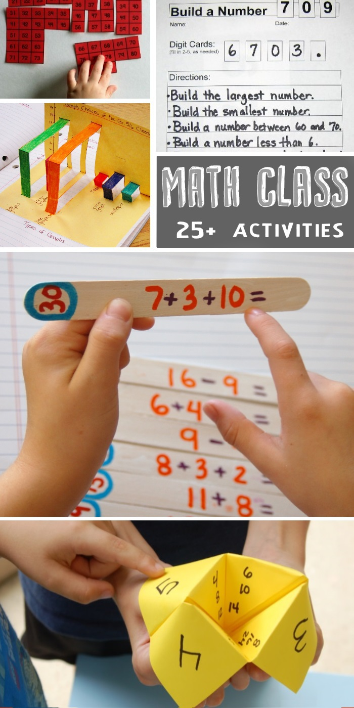 math worksheets for kids and puzzles, and a pop up graph, and a addition and subtraction math puzzle on popsicle sticks, and a fortune teller math game.