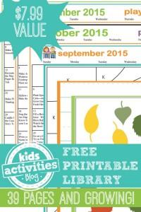 KAB Free Printable Library - Kids Activities Blog