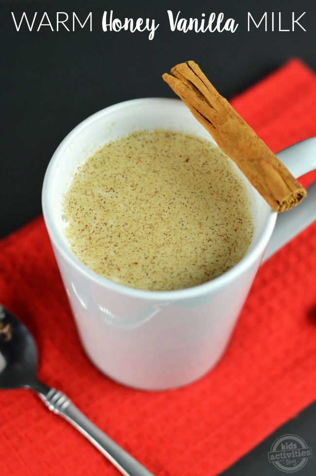 warm honey vanilla milk