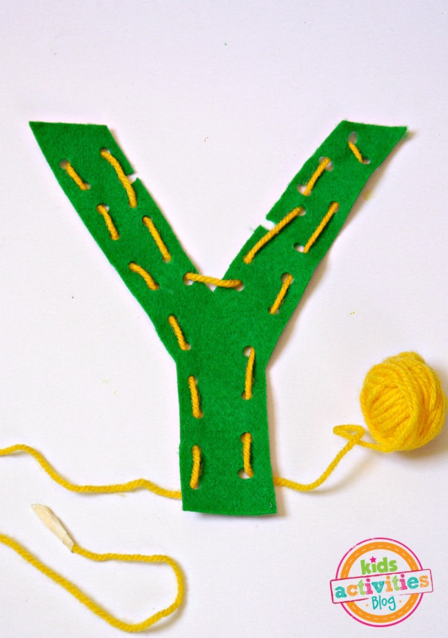 Y is for Yarn Letter Y Craft