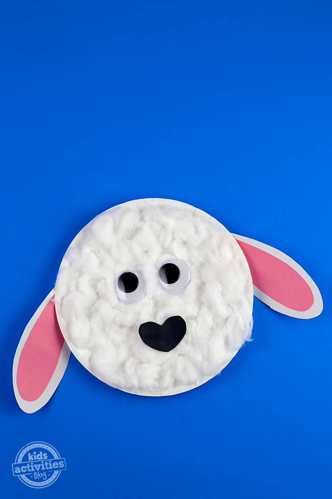 Easy Paper Plate Lamb Craft