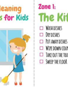 Zone cleaning chore cards also printable charts for kids rh kidsactivitiesblog
