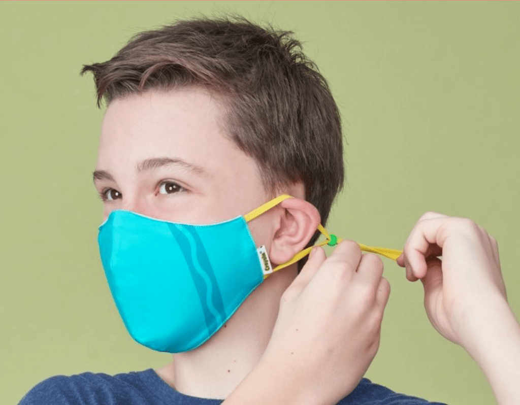 These Crayola Face Masks Allow Kids To Wear A New Mask