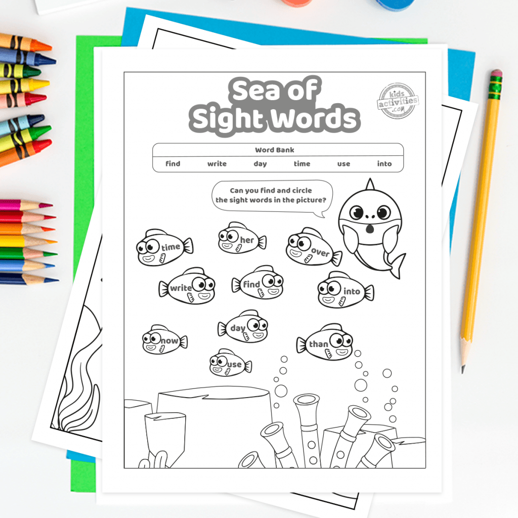 The Best Baby Shark Sight Words Printables