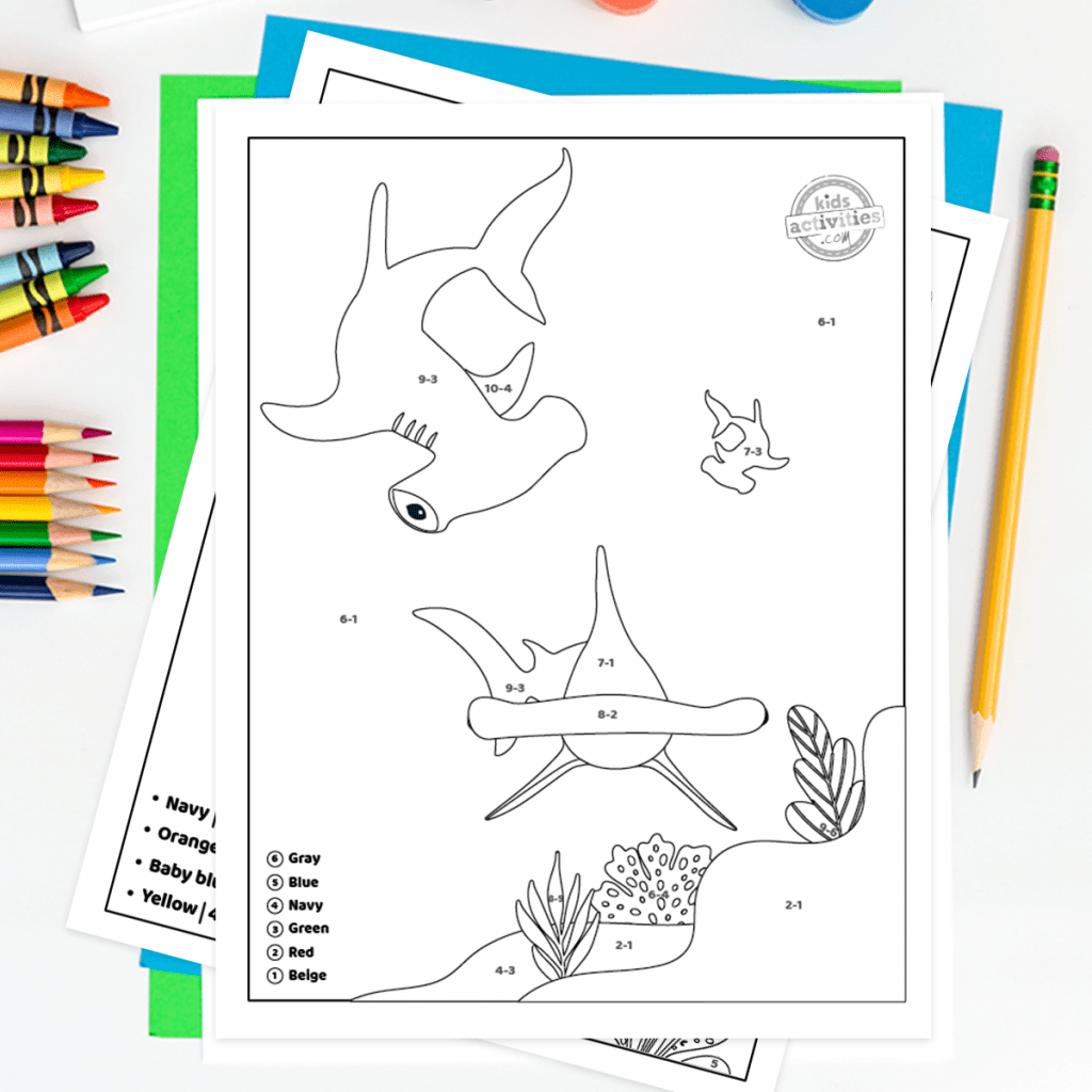 Learn How To Subtract With Adorable Shark Week Color By