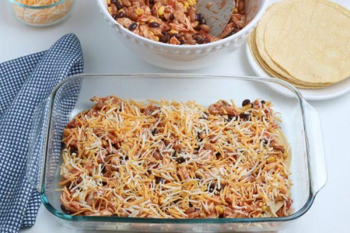 Easy Chicken Enchilada Casserole Recipe