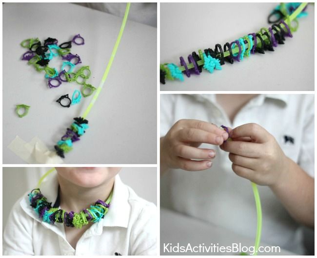 Steps to make a Halloween ring shaker craft for kids from Kids activities blog