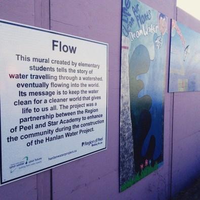 flow mural plaque