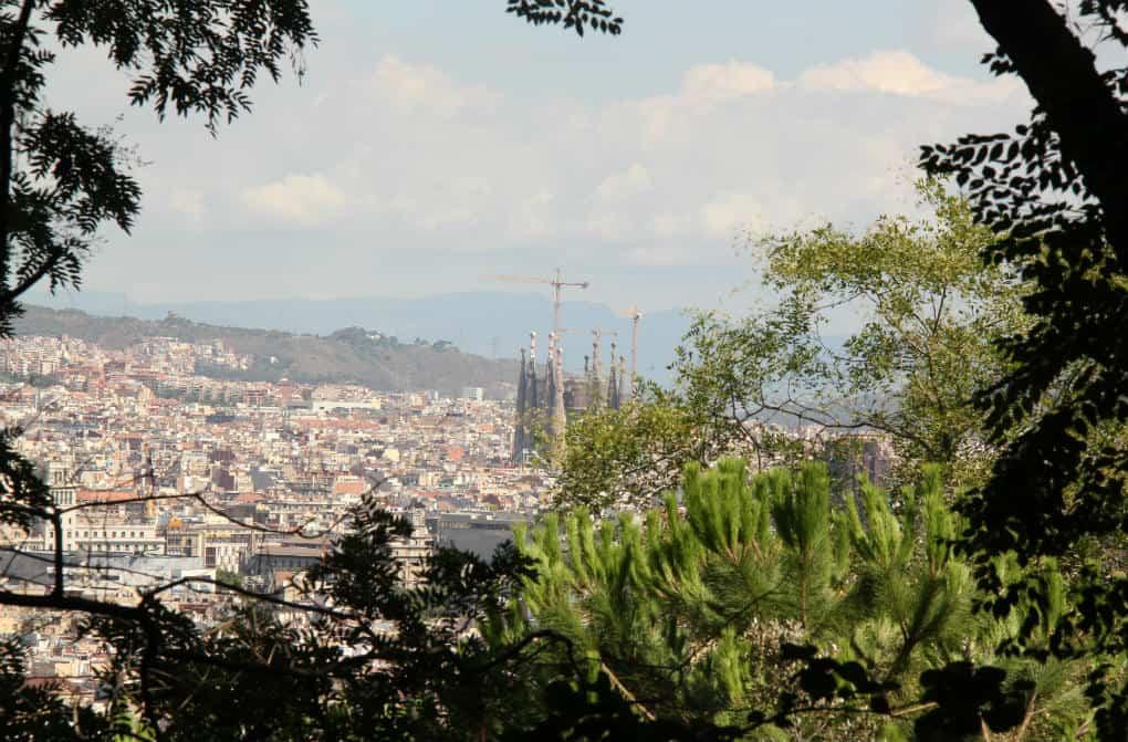 Widok na Barcelone z Montjuic