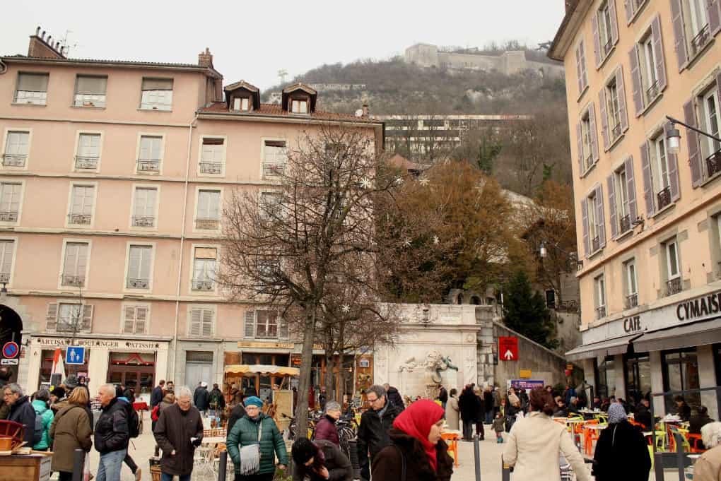 Zwiedzanie Grenoble - Wzgórze Bastille