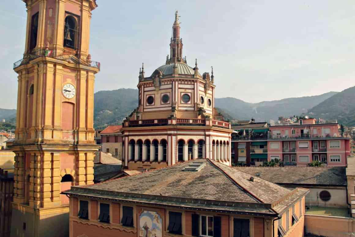 Rapallo widok z hotelu