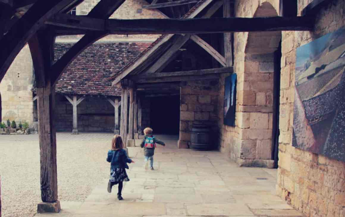 Burgundia z dzieckiem