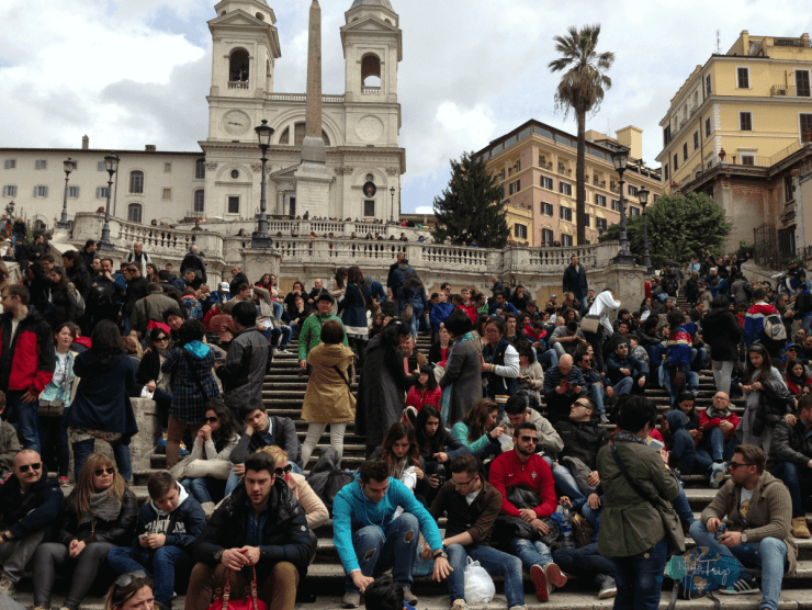 Visiting Rome with Kids Spanish Steps-Kids Are A Trip