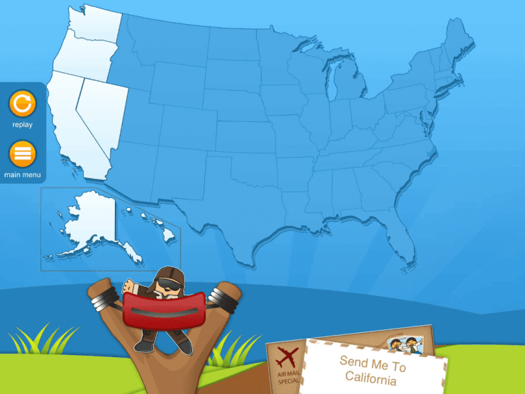 Flat Stanley Learns the States
