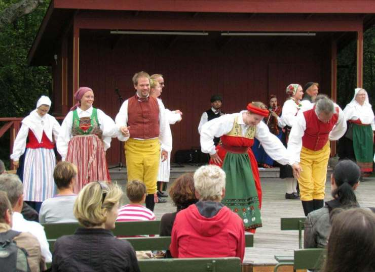 Stockholm with Kids Skansen Performers-Kids Are A Trip