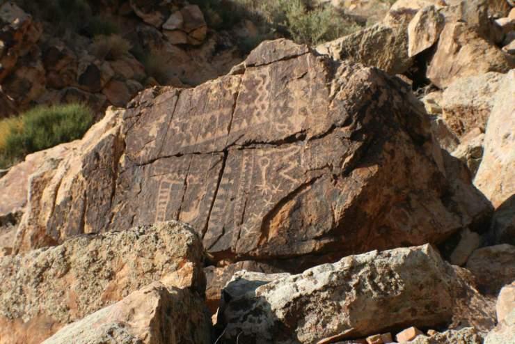 Cedar City, Utah Parowan Gap Petroglyphs-Kids Are A Trip