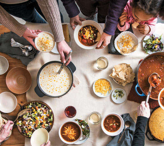 Winterfest in Lake Geneva, Wisconsin Soup Dinner-Kids Are A Trip