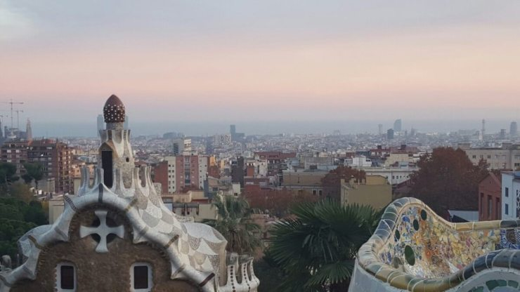 Family Friendly Tours in Barcelona View from Parc Guell-Kids Are A Trip