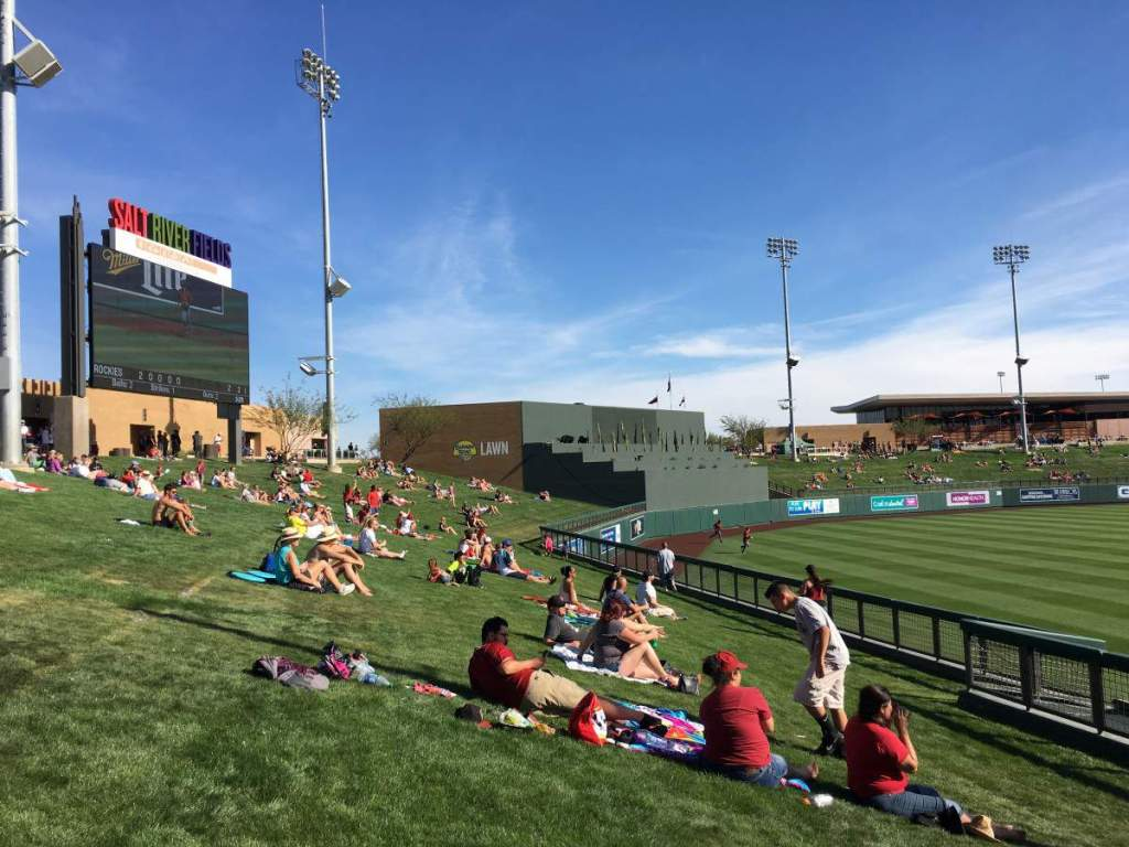 How to Have a Successful Day at Spring Training in Phoenix Lawn Seats-Kids Are A Trip