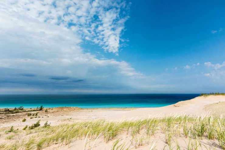 View of Lake Michigan from Sleeping Bear Dunes-Kids Are A Trip