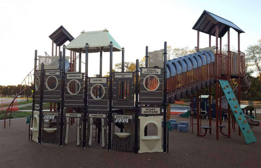 family friendly things to do in xenia, ohio playground-kids are a trip