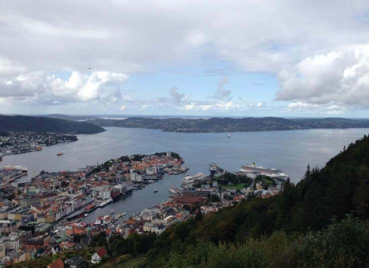 View of Bergen Best of Scandinavia and Baltics with Kids-Kids Are A Trip