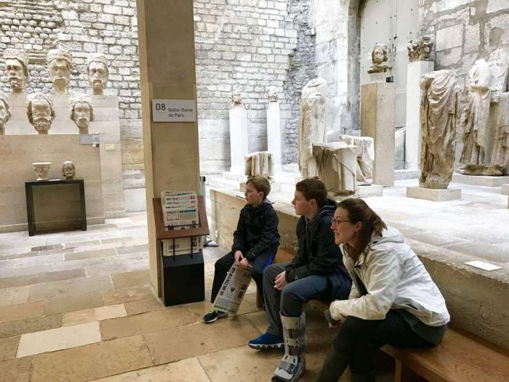 Context Tours in Paris the Frigidarium at Musee de Cluny-Kids Are A Trip