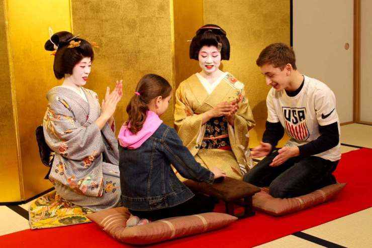 Things Not to Miss with Kids in Tokyo Traditional Games with Geisha-Kids Are A Trip