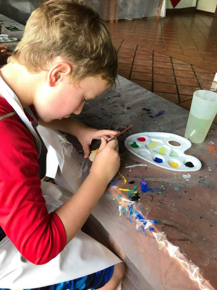 Adventures by Disney Costa Rica Vacation Maleku Gourd Painting-Kids Are A Trip