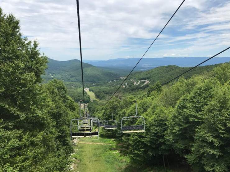 Massanutten Resort View from Chairlift-Kids Are A Trip
