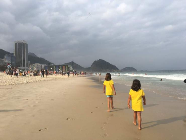 family friendly things to do in Rio Taking a stroll in Copacabana Beach-Kids Are A Trip