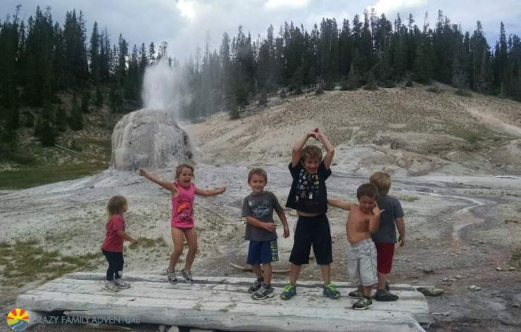 Family Friendly Things to Do in Yellowstone Lone Star Geyser-Kids Are A Trip
