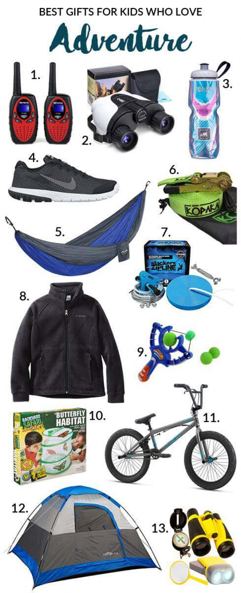 If you're kids love exploring or you just want to get them outside, check out our best gifts for kids who love adventure. Something for everyone!-Kids Are A Trip